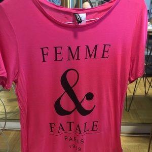H&M Hot pink t-shirt